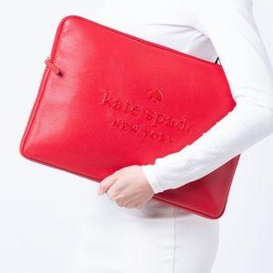 Sienne Logo Laptop Sleeve Case Kate Spade chili